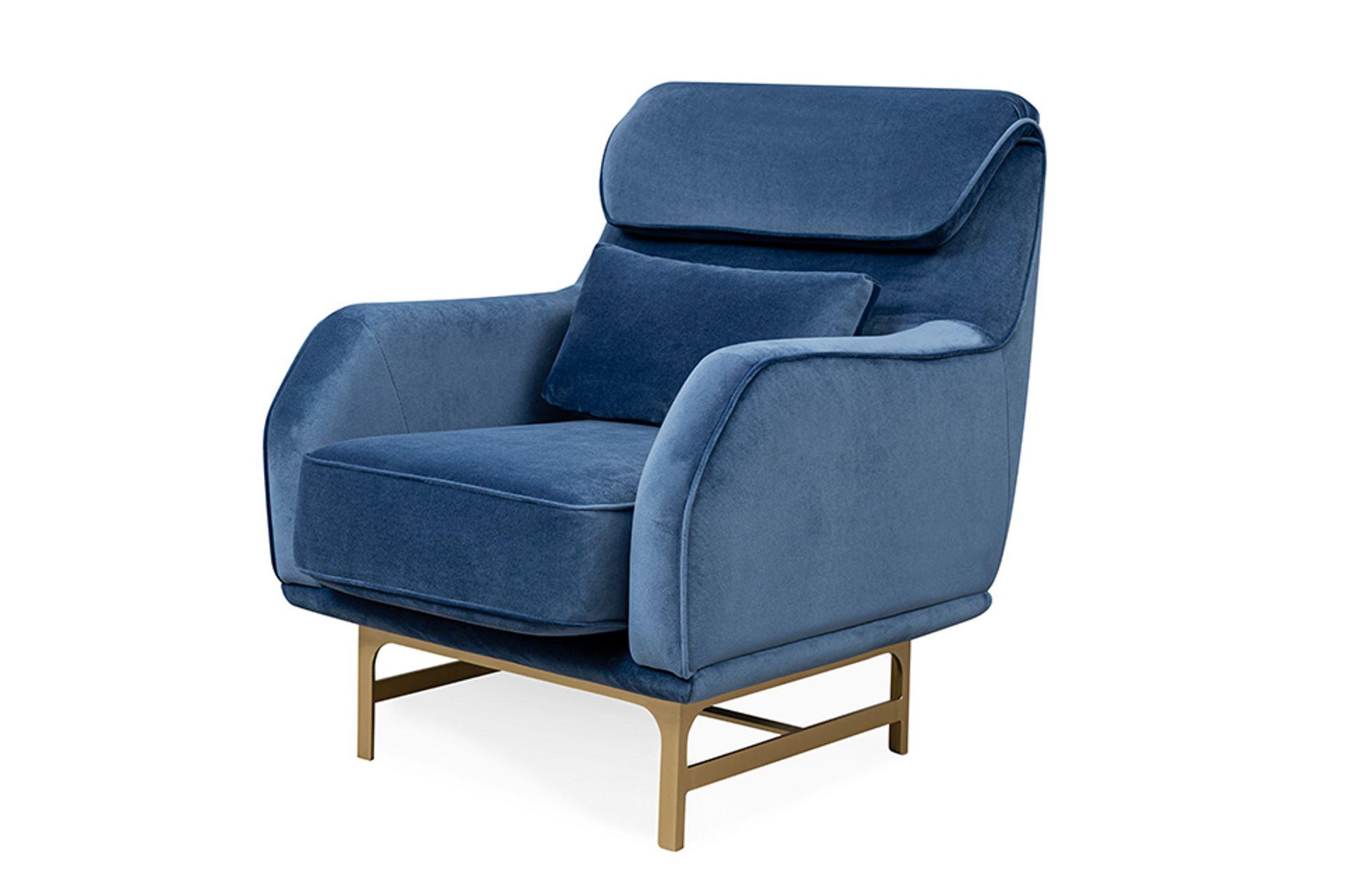 Nepal Armchair, Dark Blue