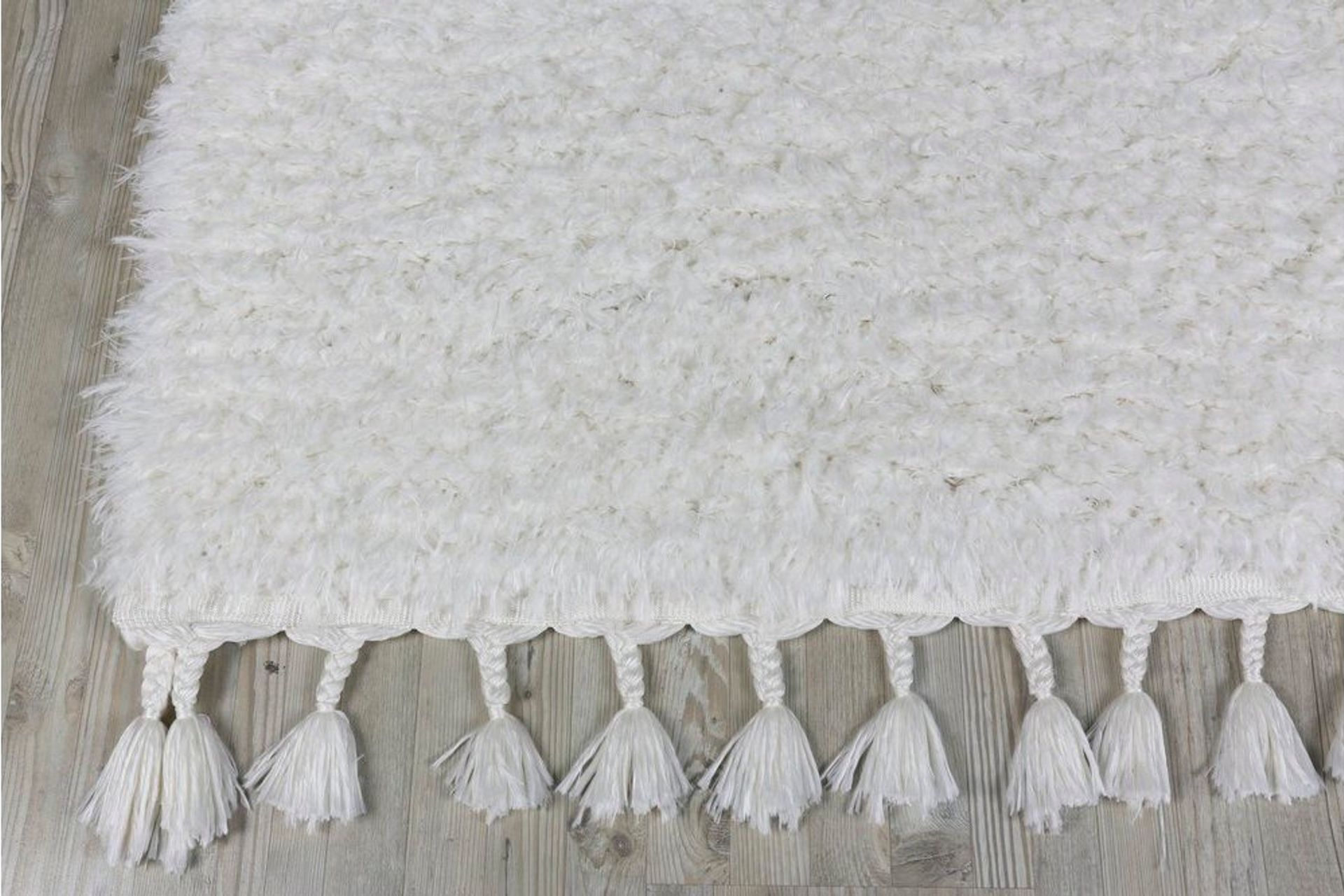 Marrakesh Shaggy Rug, White (Small)