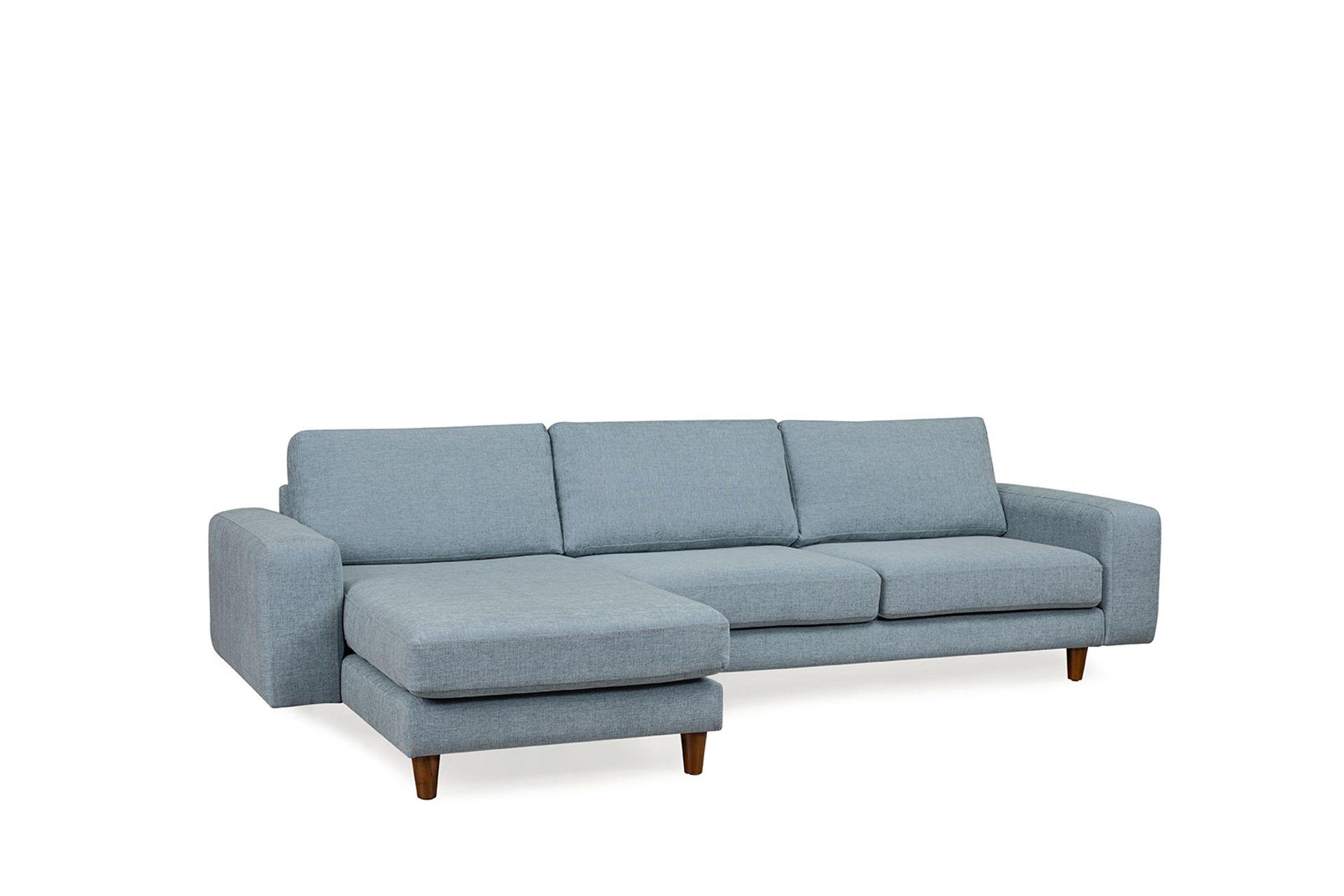 Merlin Corner Sofa, Blue (Left)