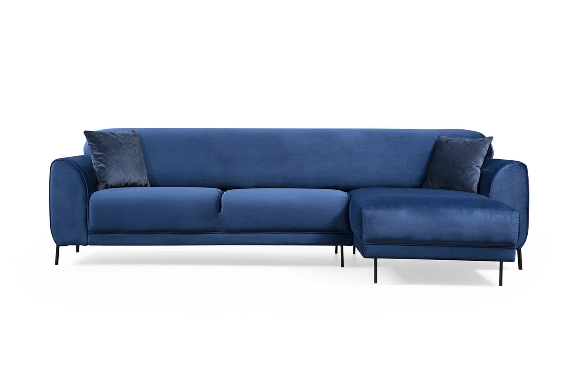 Cloud Corner Sofa Bed, Blue (Right)