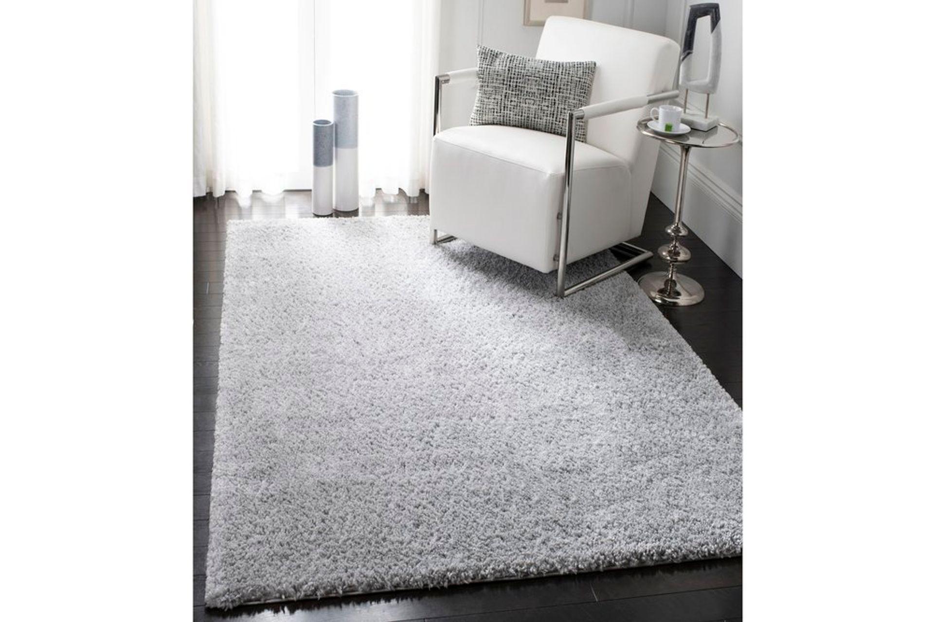 Ava Minimalist Woven Rug, 160 x 230, Grey
