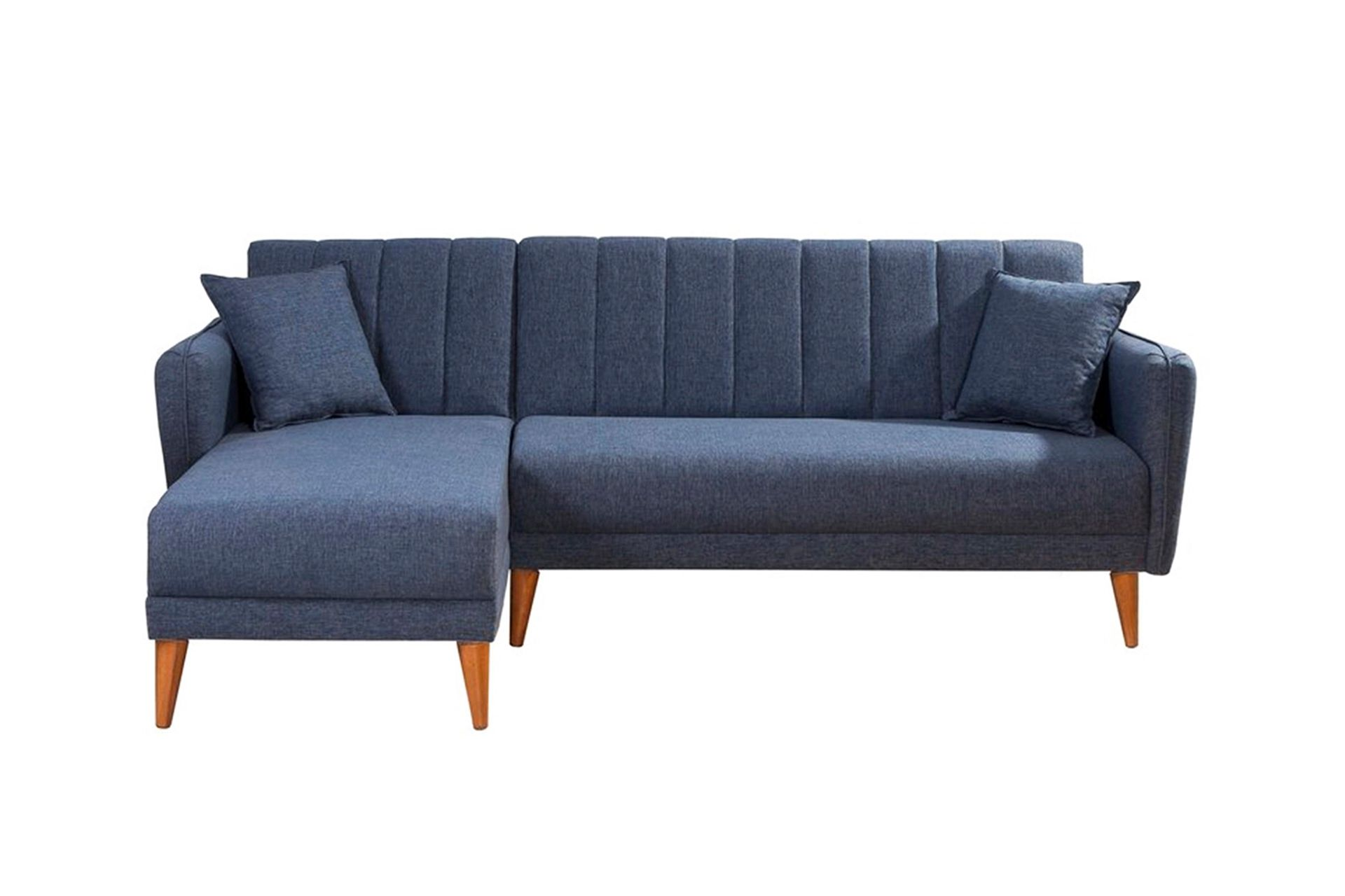 Aqua Corner Sofa Bed, Navy Blue (Left)