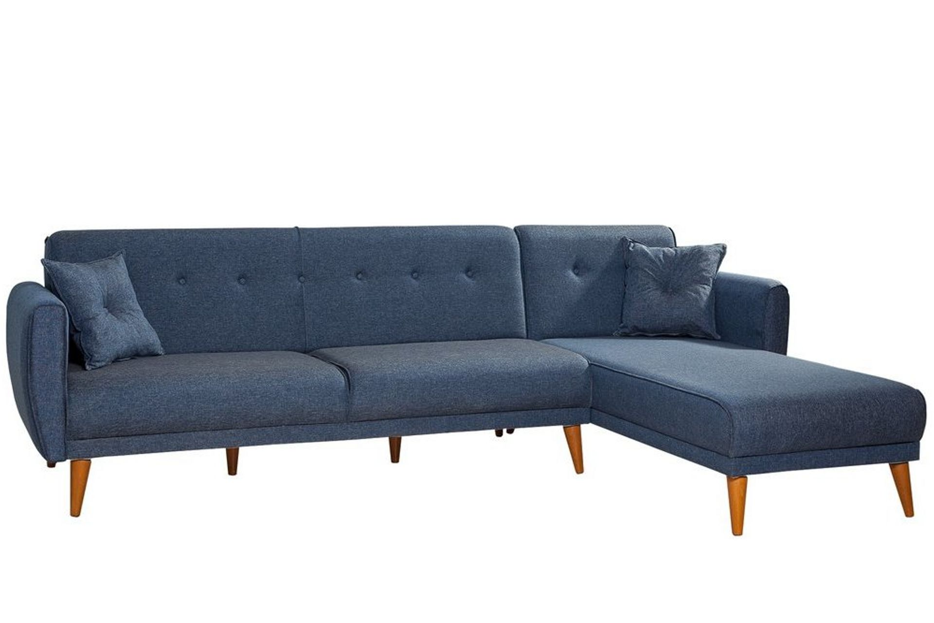 Aria Corner Chaise Sofa Bed, Right, Navy Blue