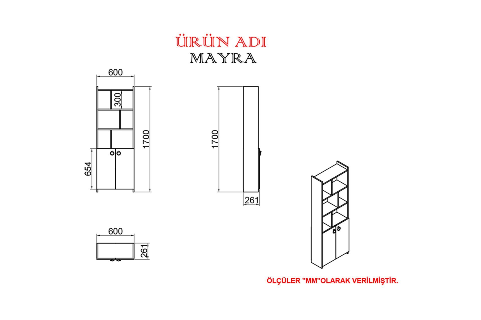 KALENDER DEKOR JİMMY MAYRA 90 CM ÇALIŞMA MASASI TAKIMI JMM05