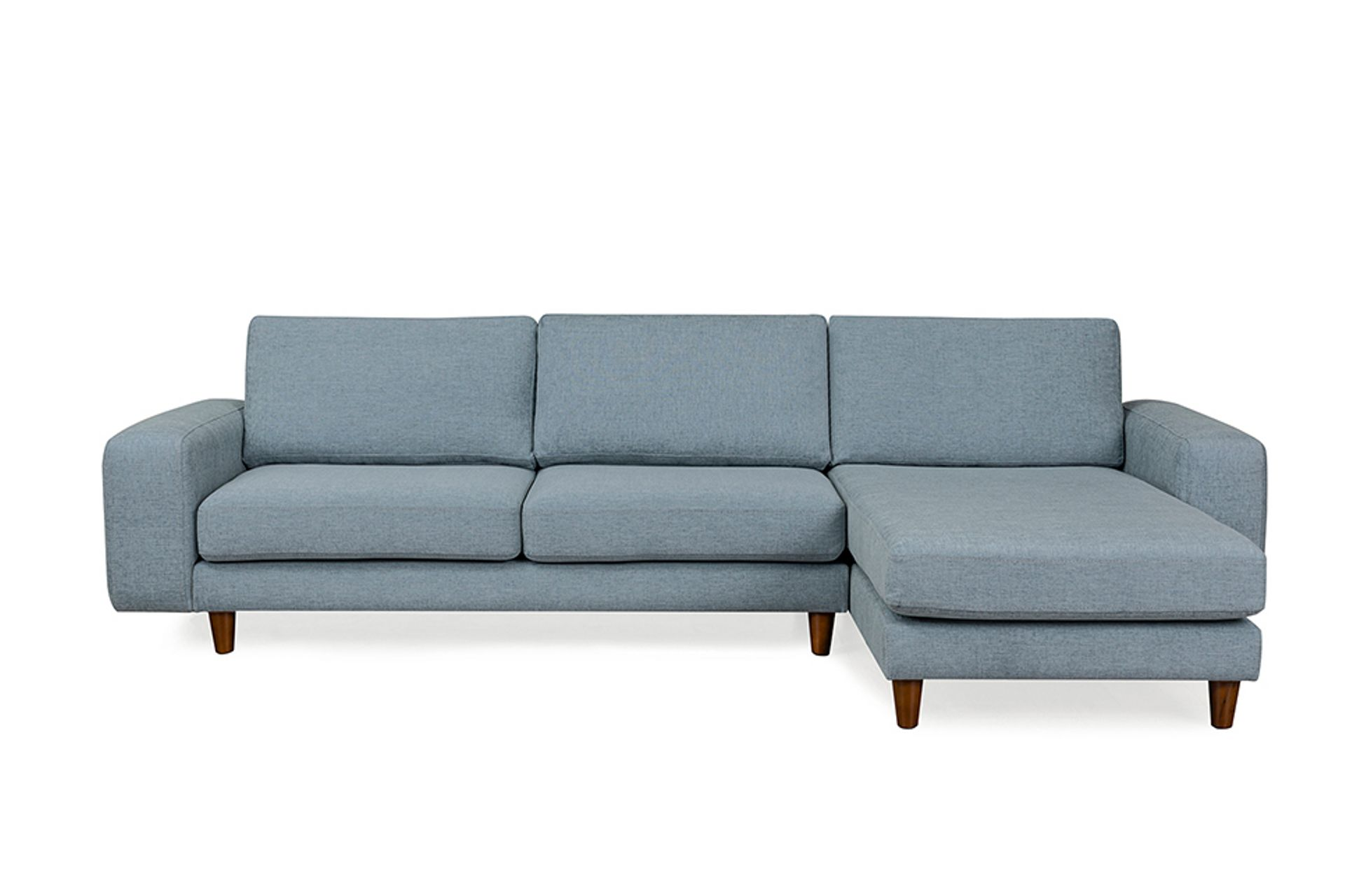 Merlin Corner Chaise Sofa, Right, Blue