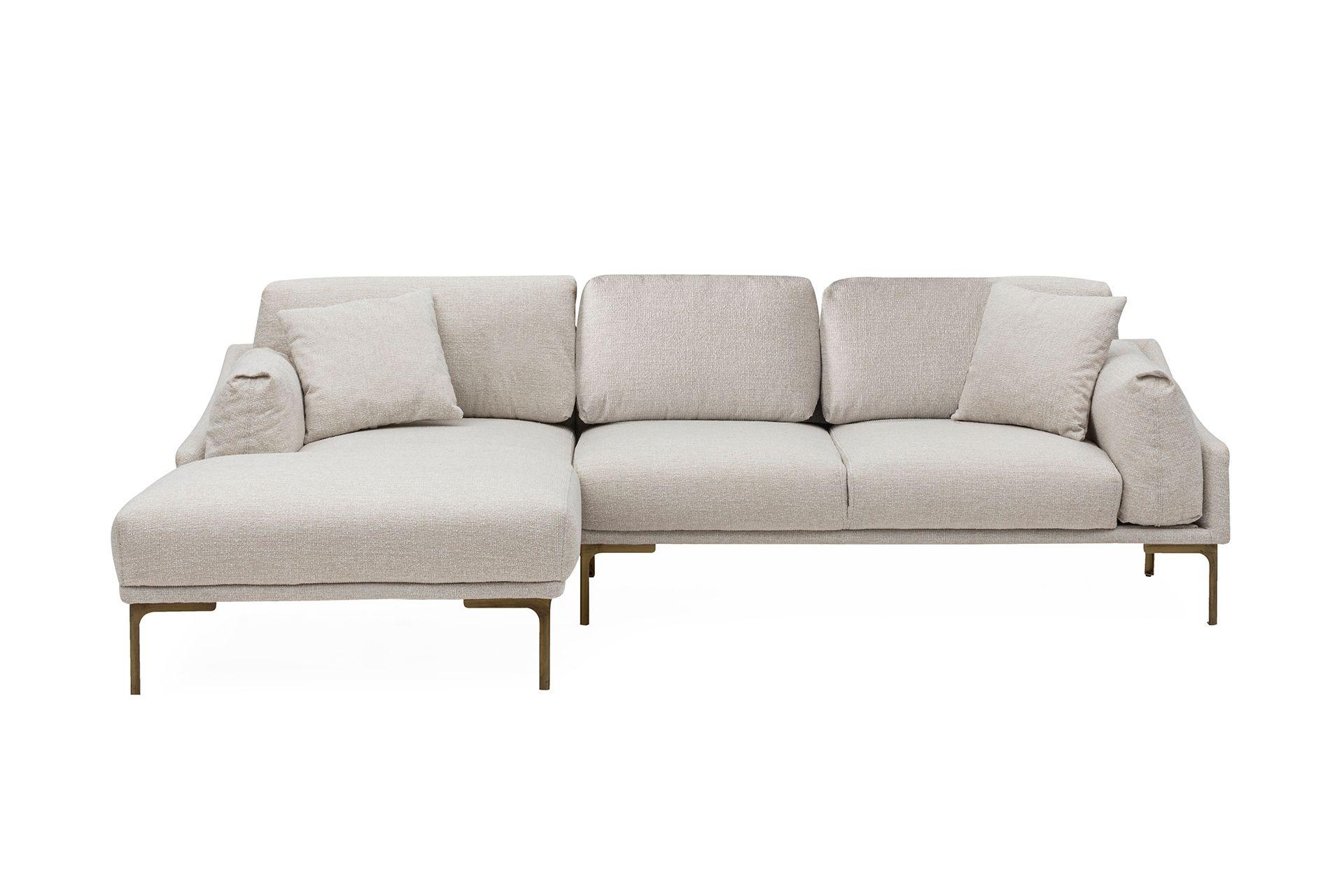 Leo Corner Sofa, Ecru (Left)