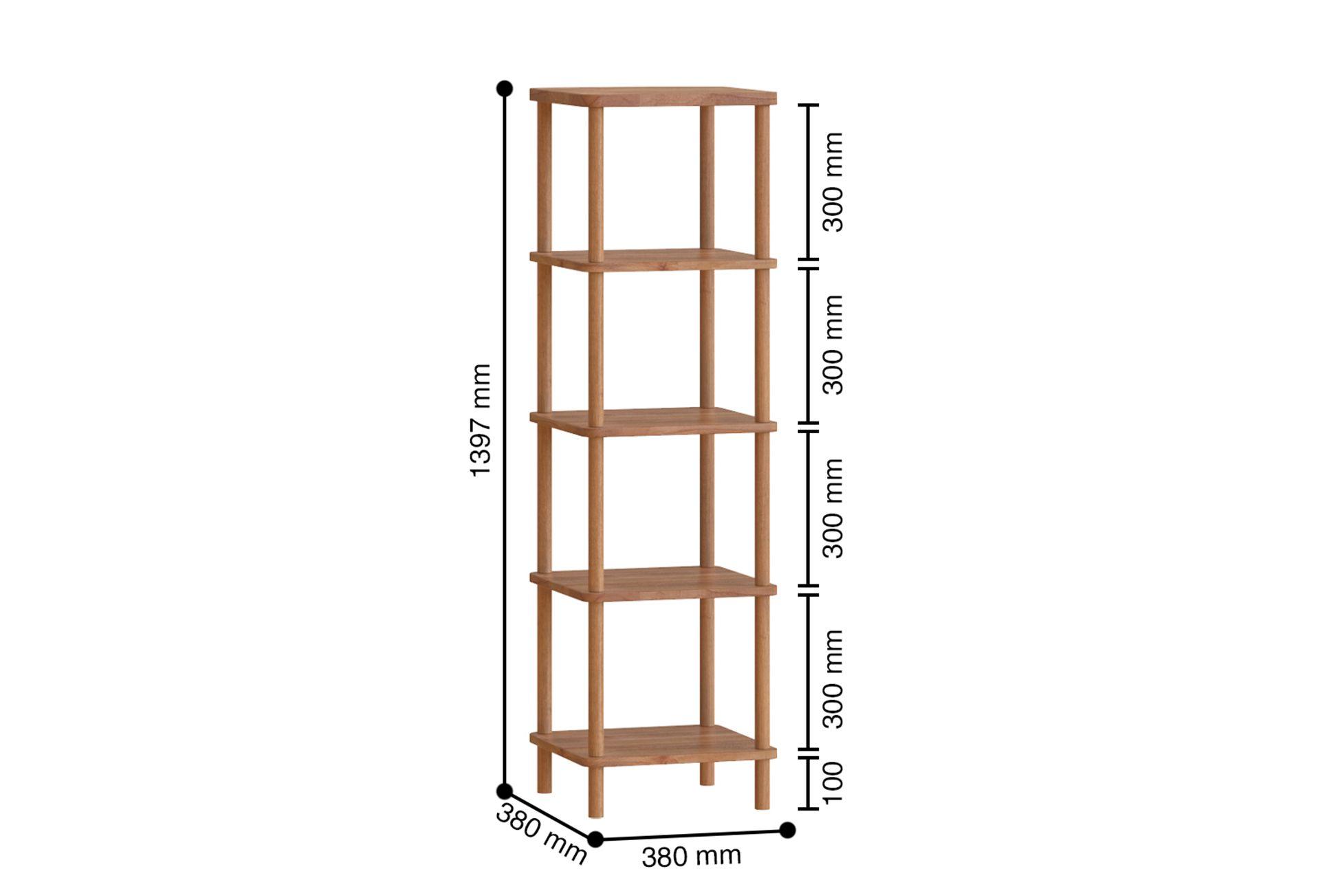 Maya Classic 5 Shelf Bookcase, (Small)