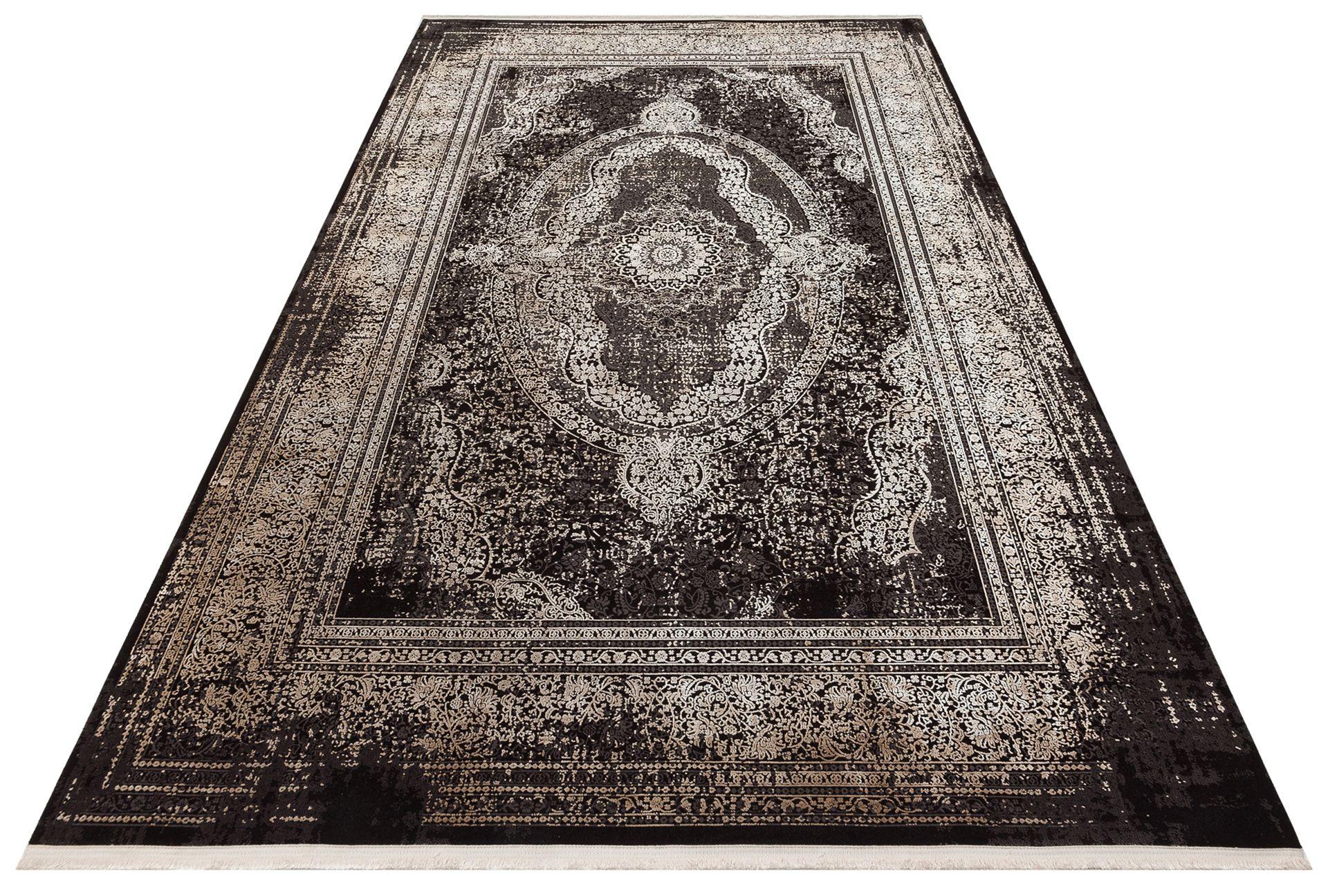 ANADOLU AD 01 ANTRASİT BEJ KLASİK DESENLİ SALON HALISI 100x300