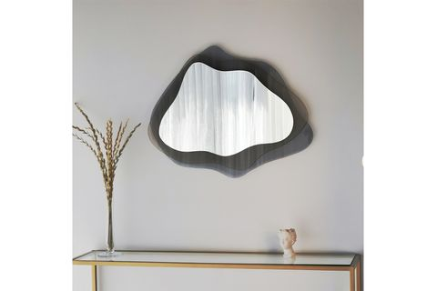 Layered Wave Mirror, Dark Grey
