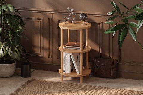 Maya Round Bookcase, (3 Shelf)