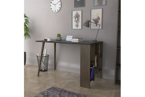Lagomood Vito Desk, Grey & Dark Wood