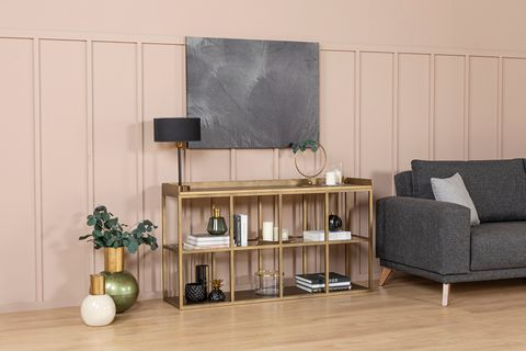 Lola Console Table, 140cm, Brass