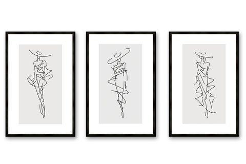 Fashion Notes Wall Art, Trio