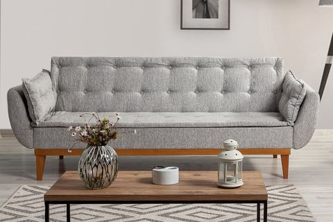 Moby Three Seater Sofa Bed, Grey