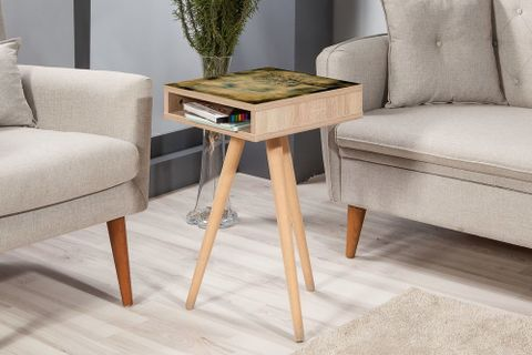 City Top Side Table, Forest Night