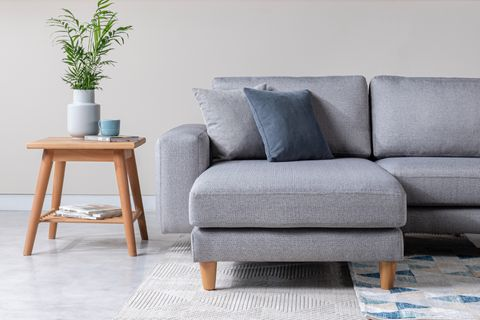 Merlin Corner Sofa, Grey (Left)