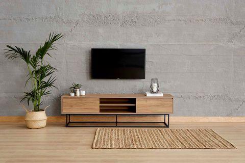 Laxus Wide TV Unit, Walnut