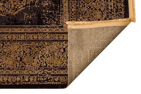 ANADOLU AD 01 ANTRASİT ALTIN KLASİK DESENLİ SALON HALISI 130x190