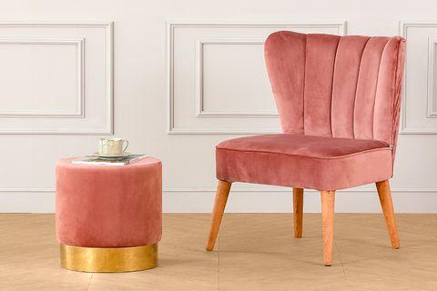 Mango Armchair, Dusty Rose