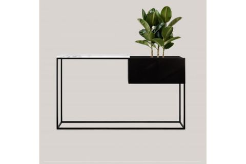 Sohomanje Console Table, 120 cm, White & Black