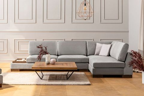 Tulip Corner Sofa, Grey (Right)