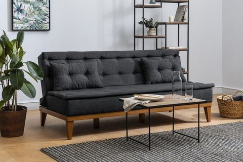 Fuoco Two Seater Sofa Bed, Anthracite Grey