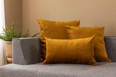 Agnes Cushion Cover, 45x45 cm, Mustard