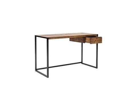 Matis Study Desk, Dark Wood & Black