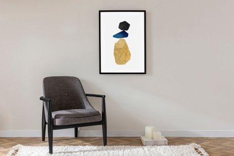 Balanced Black Art Print with Frame