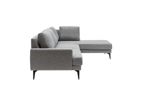 Matilda Corner Chaise Sofa, Right, Light Grey