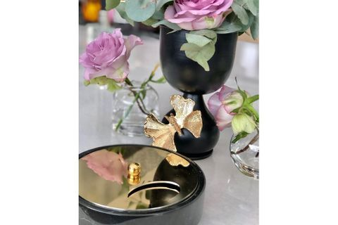 Butterfly Candle Holder, Gold (Small)