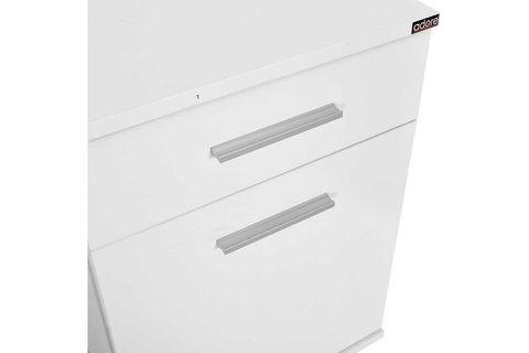 Trendline 1 Door 1 Drawer Bedside Table, White