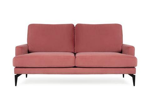 Matilda Two Seater Sofa, Dusty Rose
