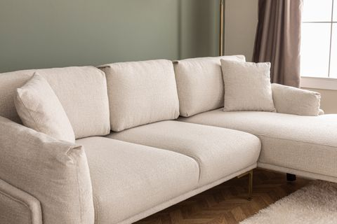 Leo Corner Sofa, Ecru (Right)