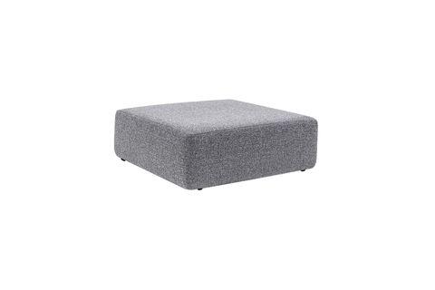 Alpha Footstool, Light Grey