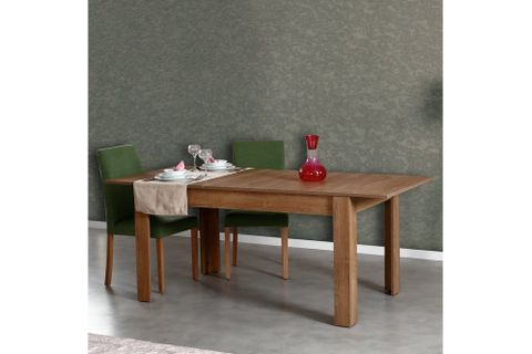 Bois 4-6 Seat Extendable Dining Table, Dark Wood