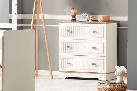 Joker Dresser, White & Oak