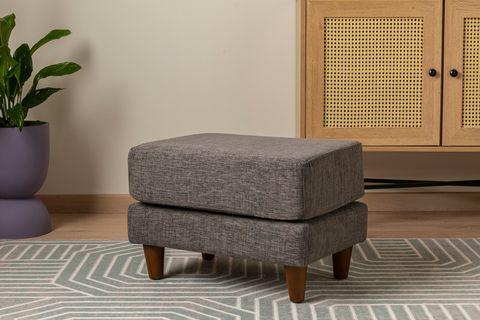 Merlin Mini Footstool, Grey
