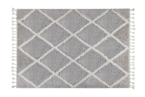 Marrakesh Line Rug, Grey & White (Small)