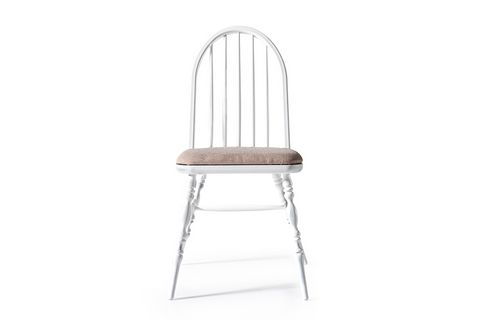 Laura Natural Chair, White