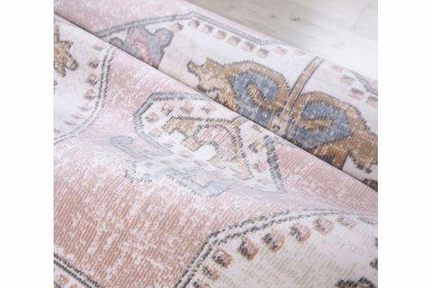 Aurora Traditional Antique Rug, 120 x 180, Grey & Pink