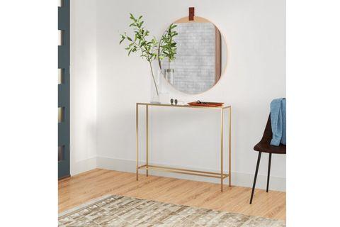 Bla Console Table, 90 cm, Gold