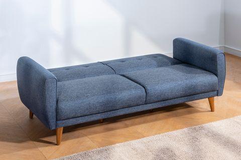 Aria Three Seater Sofa Bed, Navy Blue