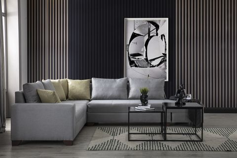 Esse Corner Chaise Sofa, Right, Grey