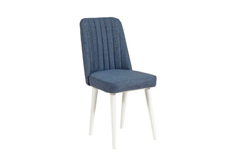 Vina Dining Chair, Dark Blue & White