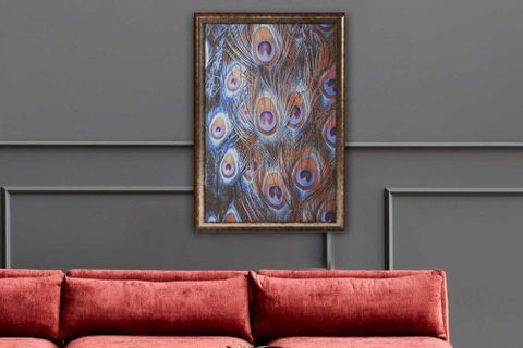 Peacock Feather Art Print with Frame, Large