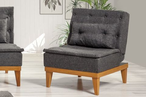 Fuoco Armchair Bed, Anthracite Grey