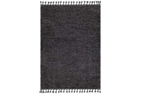 Marrakesh Shaggy Rug, Anthracite Grey (Large)