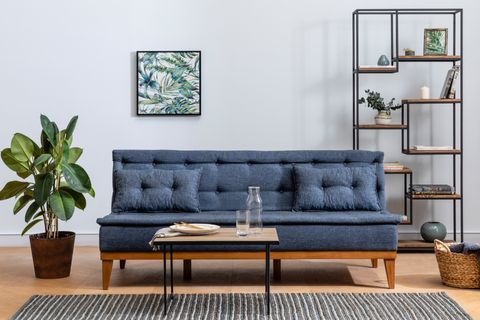 Fuoco Two Seater Sofa Bed, Navy Blue