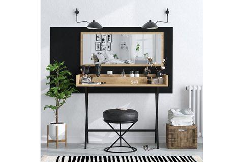 Sera Love Dressing Table, Light Wood